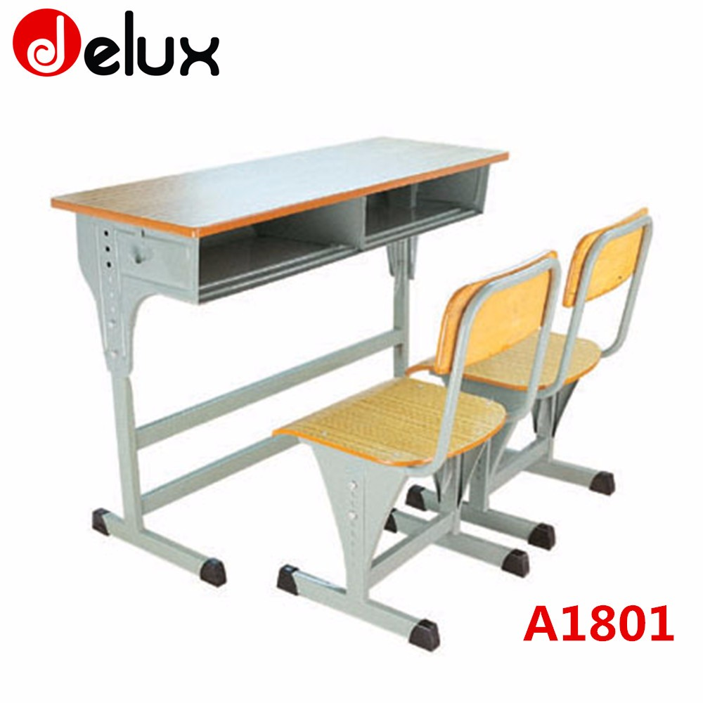 Modern school desk and chair - Modern School Werzalit Set Classroom School Desk Chair A1801