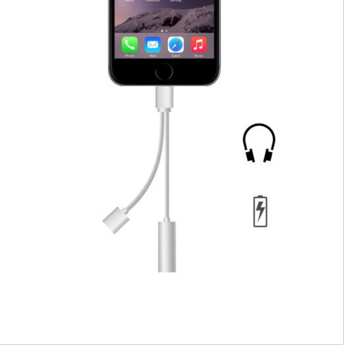 3.5 mm Headphone Jack Adapter For iPhone 7 7 plus 2 in 1 Earphone Charger