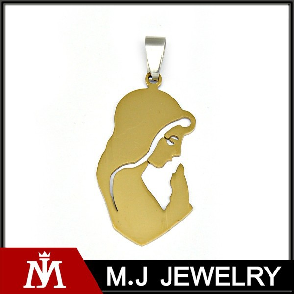 Fashion Jewelry Laser Cutting Female Shape Pendant Stainless Steel