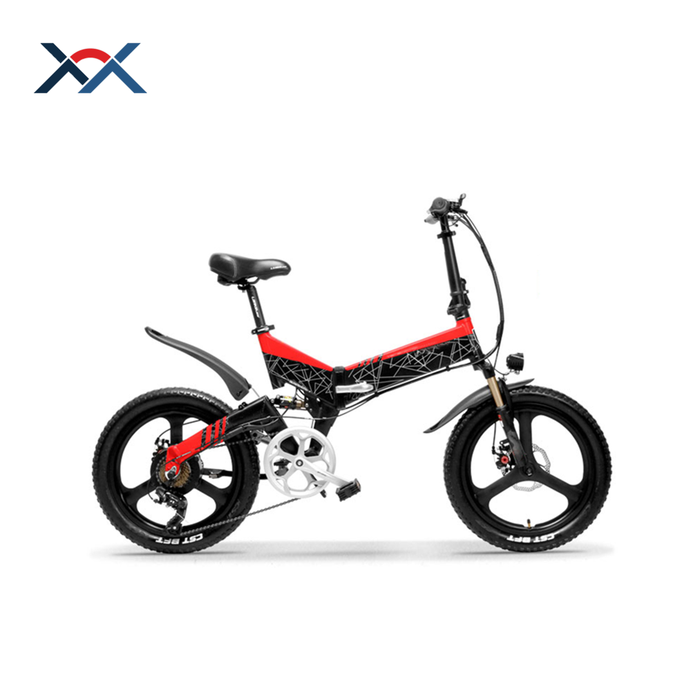 400W 48V 12.8Ah Lithium Battery Electric Bicycle China 20*2.4 Tires F/R Disk Brake Electric Bicycle Foldable, Red;yellow etc optional