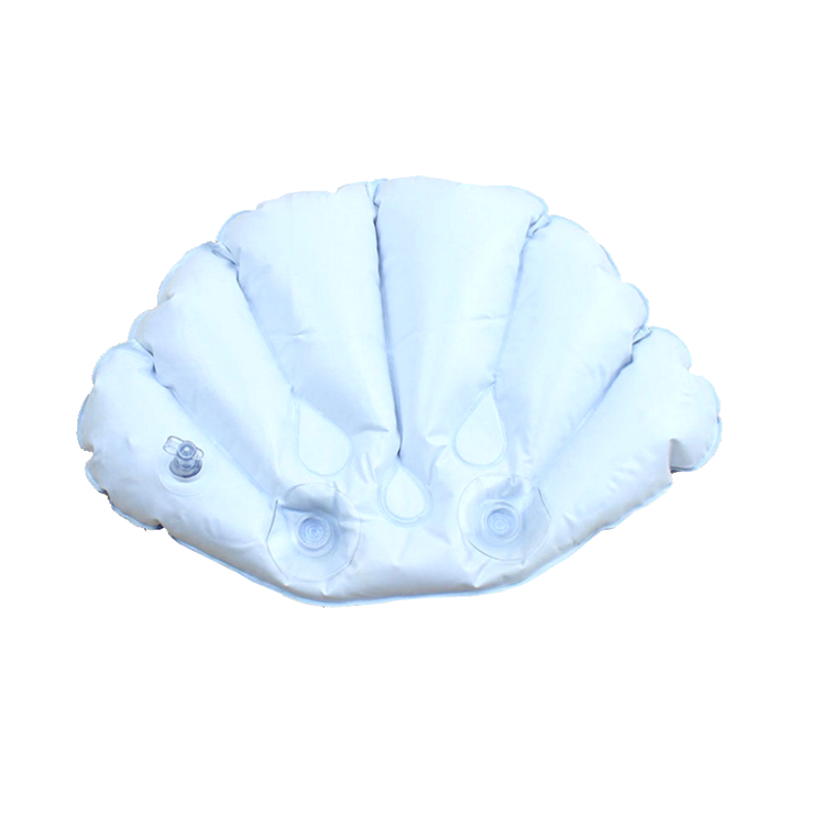 PVC Inflation spa bath pillow with Belt sucker