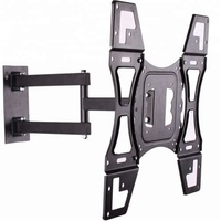 "2019 TV Wall Mount for most 26""-55"" LED LCD Plasma Flat Screen Monitor up to 66lbs VESA 400x400 with Full Motion Swivel"
