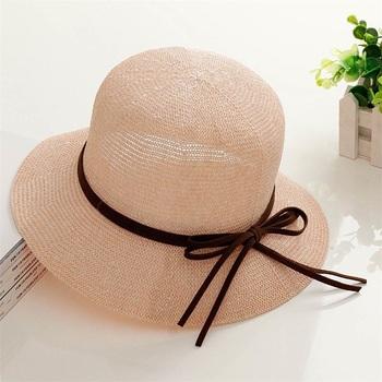 2fcfe40fbea Wholesale Lady Beautiful Beach Sunhat Safari Fedora Paper Straw Hats ...