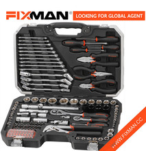 Logo Printed 124 Piece Tool Set Mechanic Chrome Vanadium Auto Mechanics Hand Tools Kit