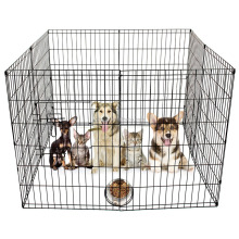 8 Panel Pet Cage Playpen Dog Puppy Rabbits Guinea Metal Crate Fence Run Cage Kennel Indoor Outdoor (24-inch)