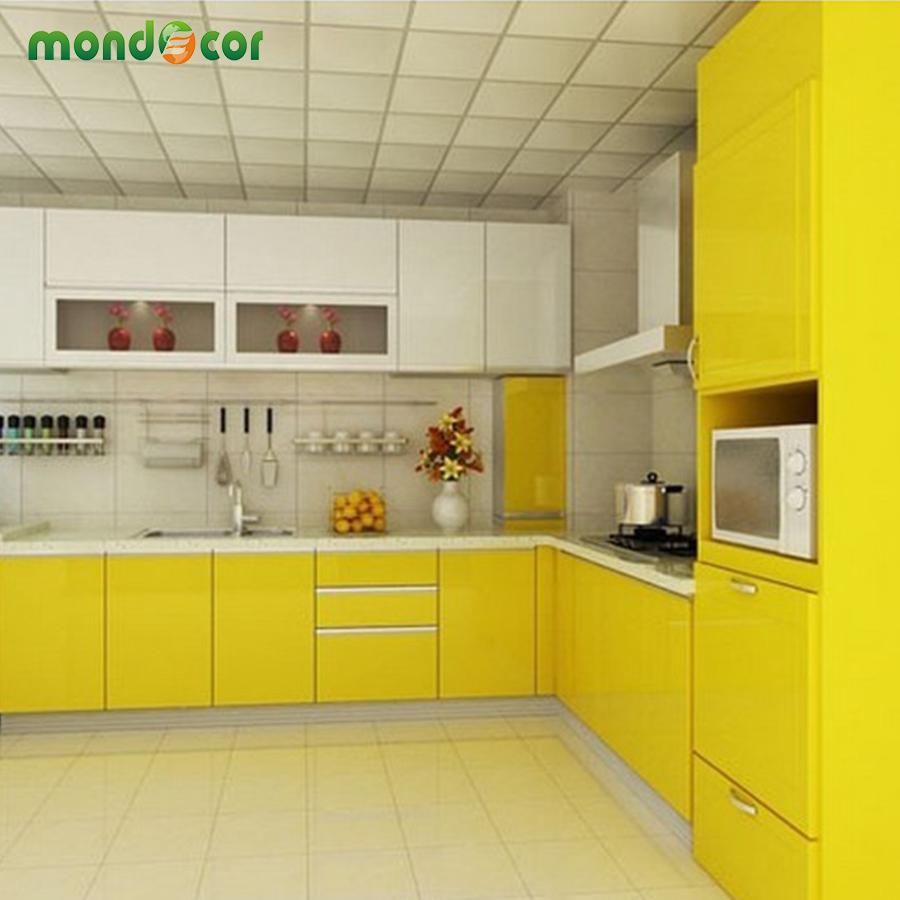 Kitchen Cabinet Wallpaper: New Glossy PVC Waterproof Self Adhesive Wallpaper