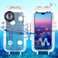 Newest PULUZ 40m/130ft Waterproof Diving Housing Photo Video Taking Underwater Cover Case for Huawei P20