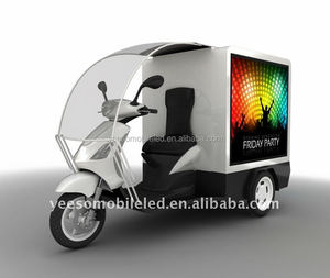 YES-M1Mobile Billboard with three wheels, outdoor advertising motorcycle, cheap mobile advertisement for sale!
