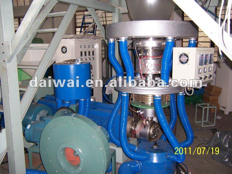 Extruder for film polyethylene Low density with Yaskawa inverter control and double winding unit