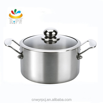 Promotional Gift Set Stainless Steel Cooking Pots 6pcs Pot Outdoor