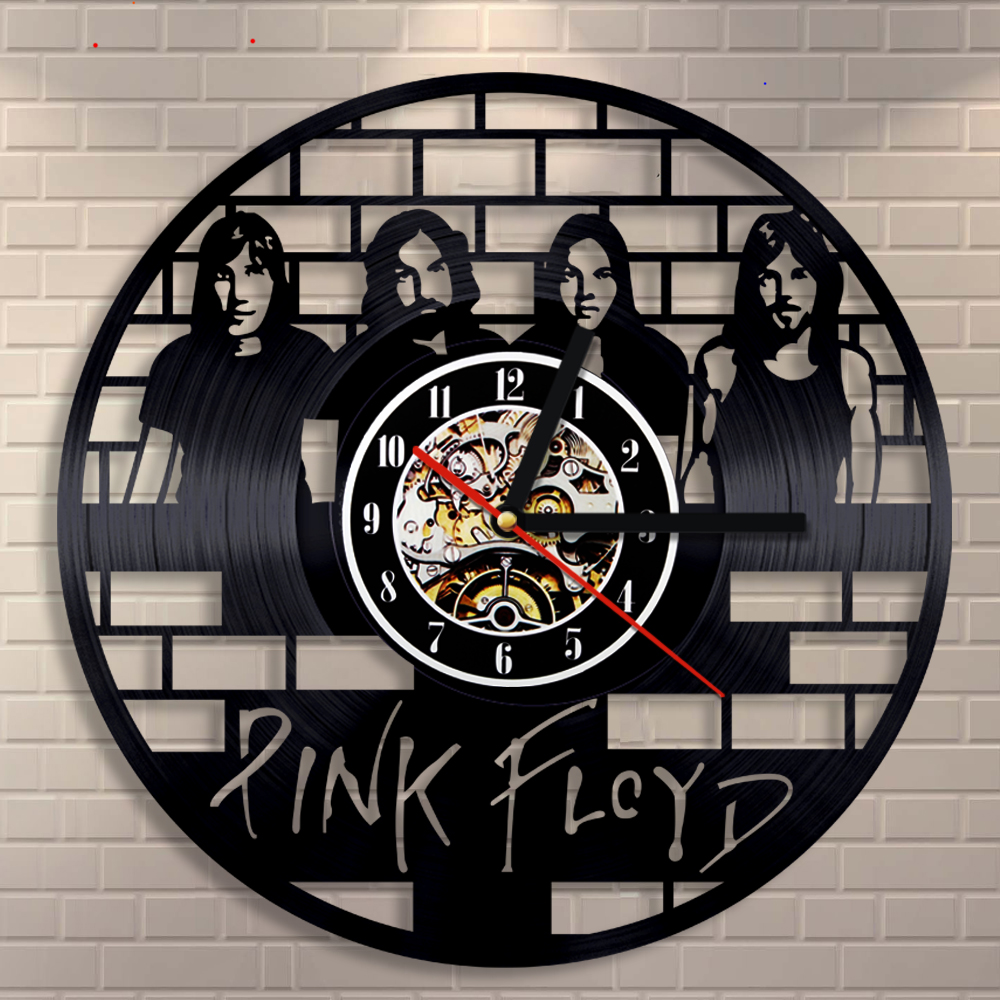"Pink Floyd CD Vinyl Record Wall Clock Muisc Group Art Unique Decorative Vintage Clock 12"" 3D Hanging Wall Watch OEM Dropship"
