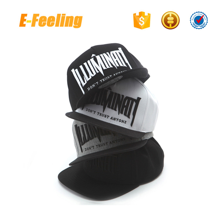 Custom wholesale embroidery snapback hat paypal