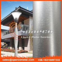 factory aluminum spun decorative street lighting column