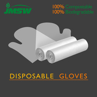 Brand new disposable PLA gloves for food service