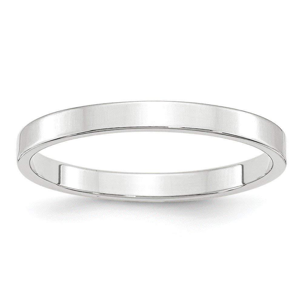 Best Designer Jewelry 14KW 2.5mm LTW Flat Band Size 11