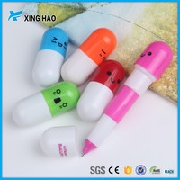 Mini lovely capsule pen with low price cute capsule vitamin ball pen promotional capsule ball pen
