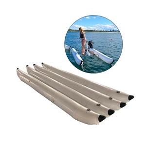 Custom NO MOQ Durable PVC Inflatable Banana Pontoons Tubes Buoy for  Sea Water Pedal Bike Boat