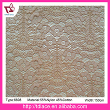 New design nylon cotton jacquard lace fabric for garment, factory direct cord lace fabric
