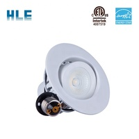ETL&ES led downlight fixtures recessed led dimmable downlight gimbal slim panel