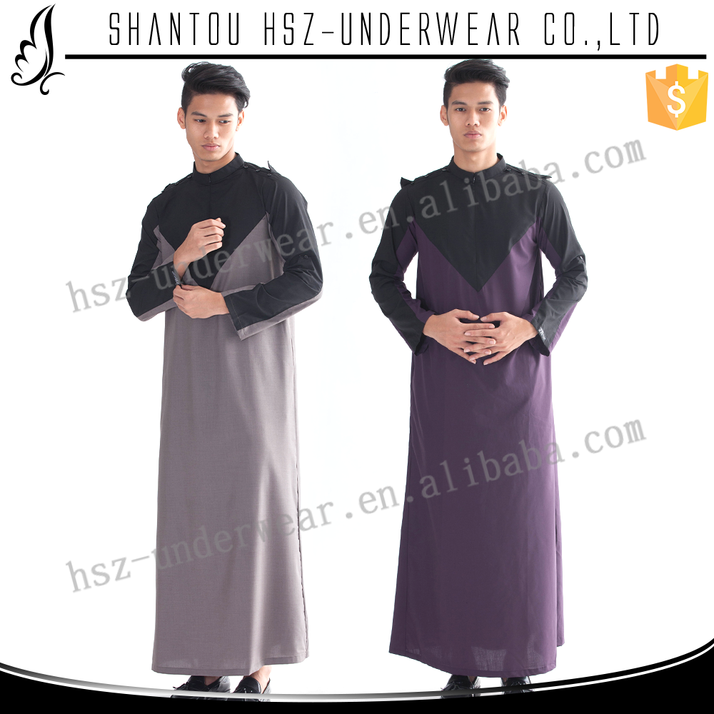 MD M003 New style islamic clothing muslim men thobe men qatar thobe men islamic clothing thobe