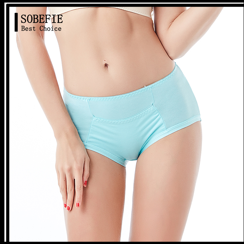 Adult Women Waterproof Anti-leak Briefs Bamboo Fiber Thermal Underwear Period Menstrual Proof Panties