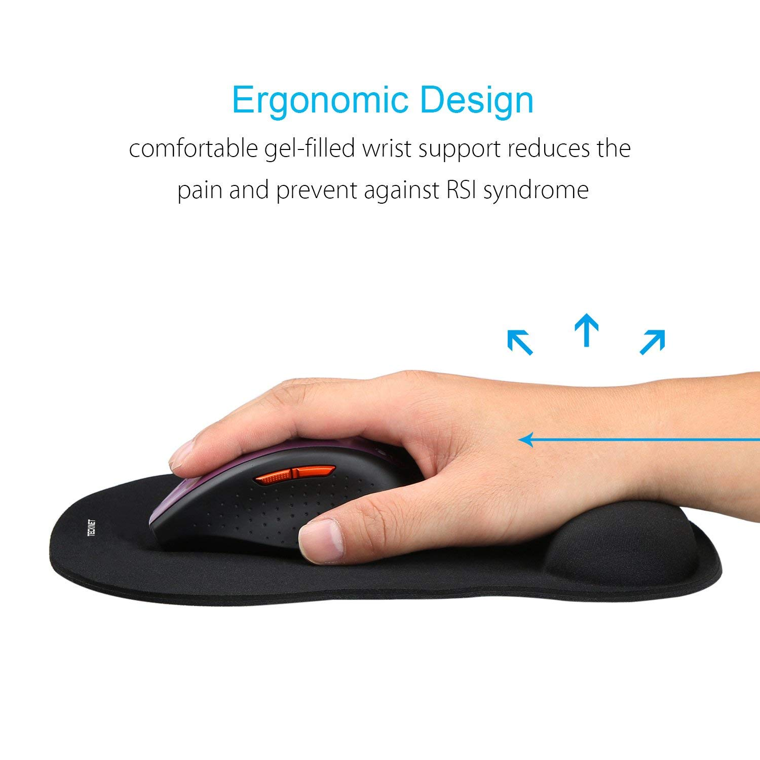 Ergonomische Gaming Office Mat Mousepad Custom Logo Leeg muismat met Arm Rust Polssteun