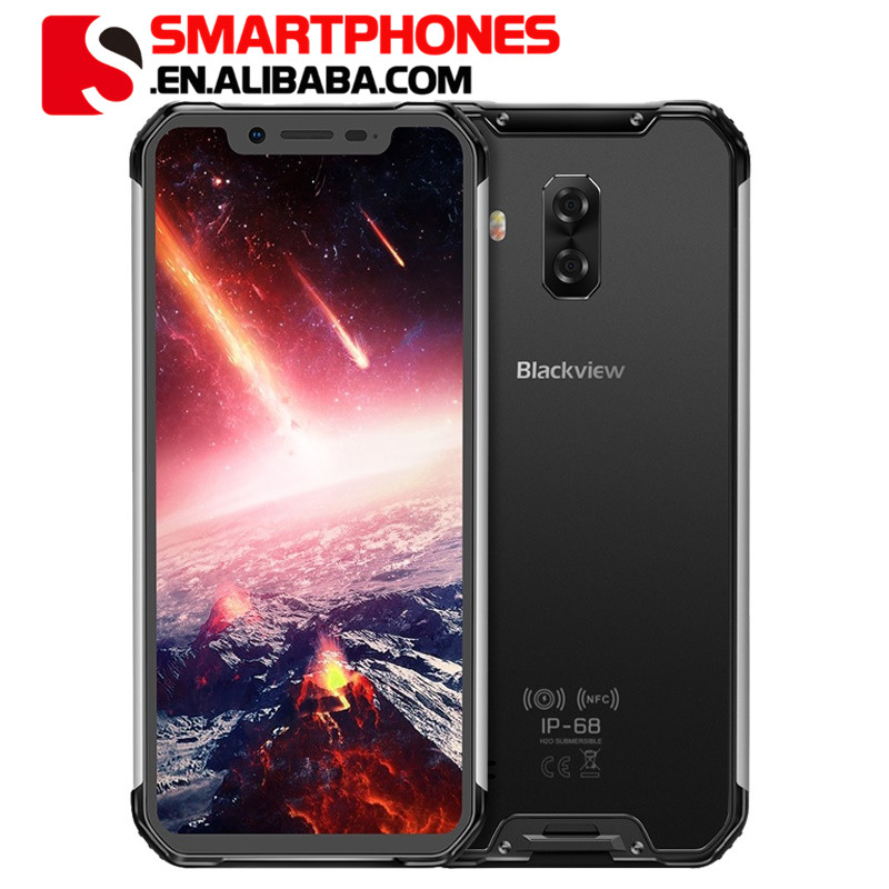 """Blackview BV9600 Pro IP68 Waterproof Mobile Phone Helio P60 6GB+128GB 6.21 19:9 FHD AMOLED 5580mAh Android 8.1 Smartphone NFC"""""""
