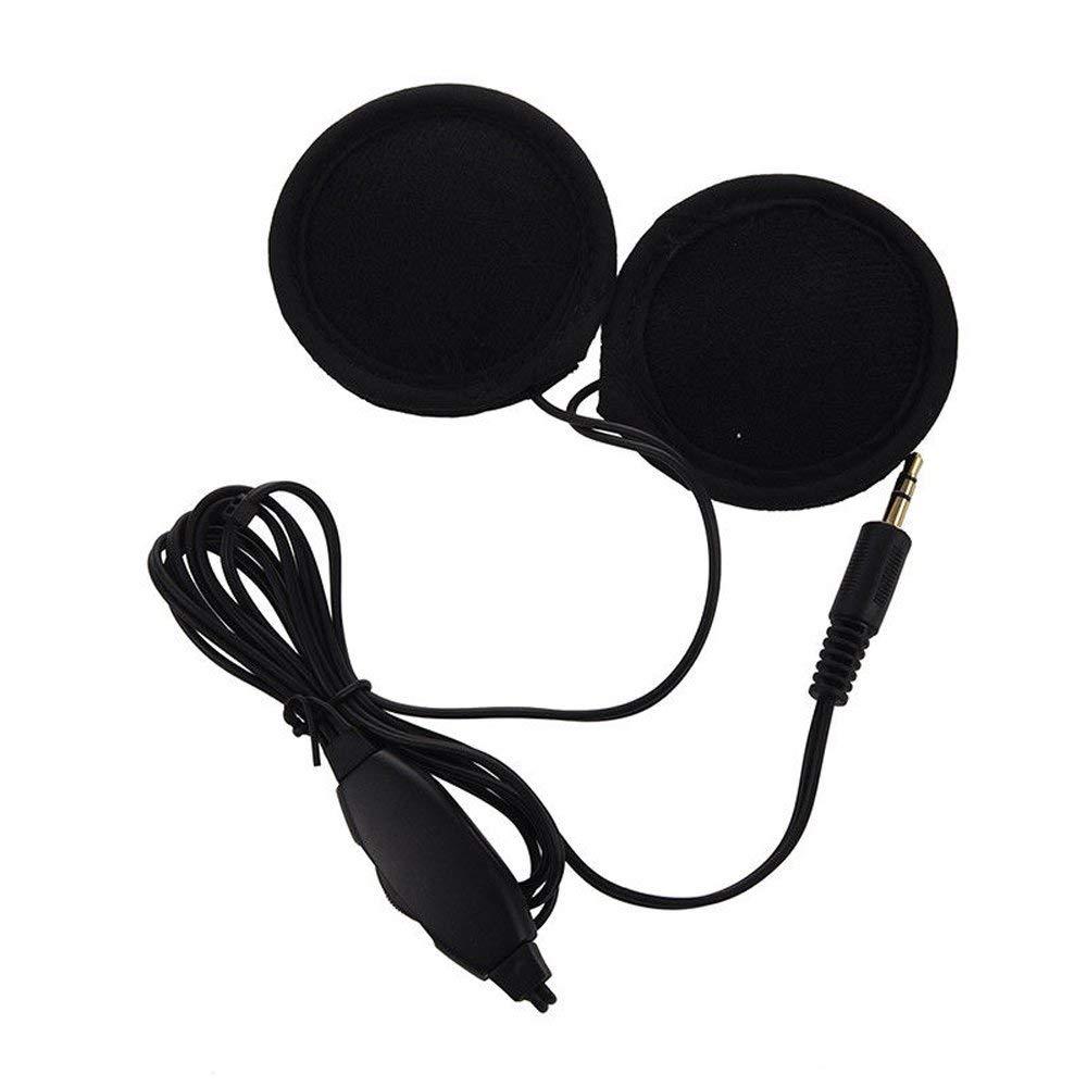 SAUTOP 3.5mm Motorcycle Helmet Speaker Headphones with Volume Control with Extens K7A4