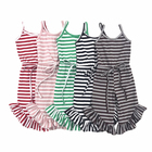 NO MOQ RTS Newborn Clothes Wholesale Cotton Stripe Baby Jumpsuit Knitted