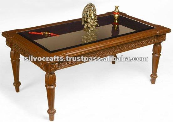 Tavolino da salotto intagliato di legno di safina mobilia for Mobilia domestica