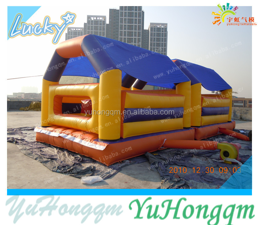 Cheap Wholesale Inflatable Jumping House Trampoline with Roof for Kids