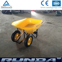USA market two wheels environmental pp tray wheelbarrow