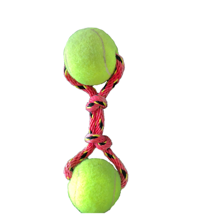 pet toy oem eco friendly pet rope ball toys dogs and cats chew cleaning teeth