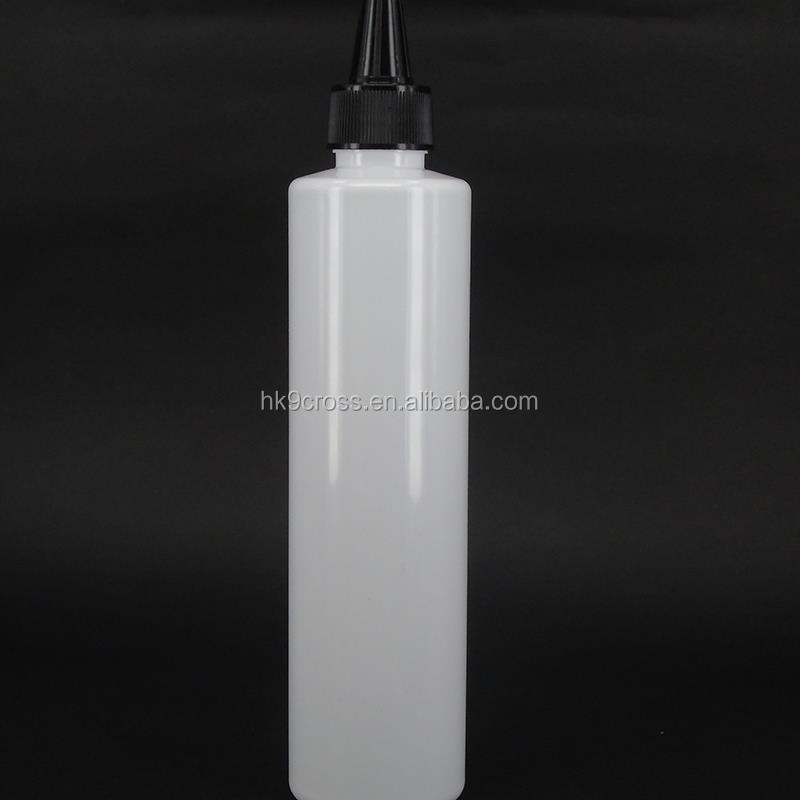 Plastic shampoo bottle 250ml Empty Tatto ink plastic squeeze bottle twist off caps