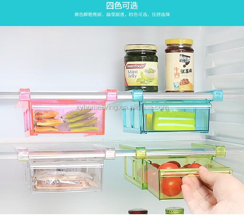 Mini Clear Transparent Plastic Fridge Storage Drawer Refrigerator