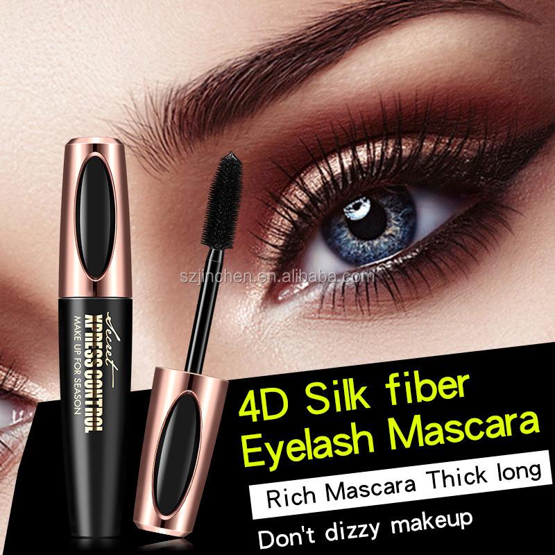 Alibaba.com / Newest fashion makeup extension eyelash black waterproof volumizing mascara wand eyelash extension 4D silk fiber eyelash mascara
