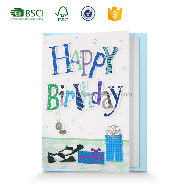 Buy cheap china us manufacturing greeting card products find china happy birthday 3d handmade greeting card design birthday invitation cards m4hsunfo