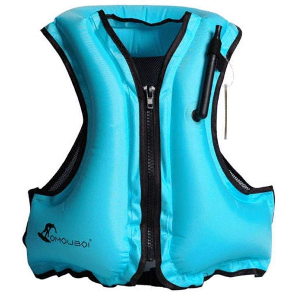 Adult Portable Inflatable Floatage Vest,Life Jacket Swim Vest,Swim Aid,Snorkeling,Fishing Vest,Swimming.Drifting,Surfing,Diving,Boating,Kayaking,Canyoning