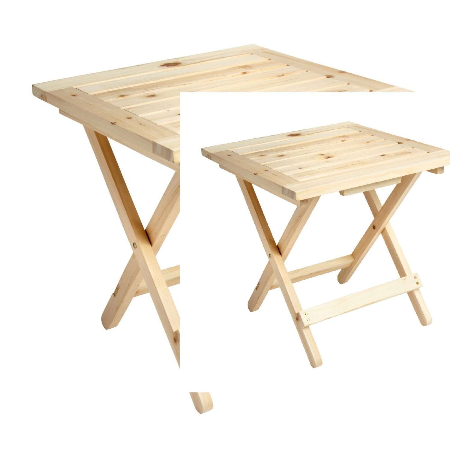 """Solid Cedar Adirondack Style Side Folding Table (18"""" x 18"""" x19"""") - *Pack of 2*- Save on Shipping!"""