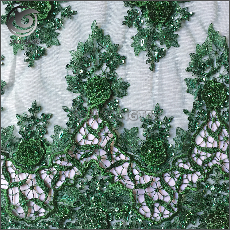 High-grade Luxury Lace Embroidered Fabric With Concave Sequins Beaded