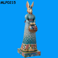 Unique Easter Decorations Standed Mrs Rabbit Holding A Baskets