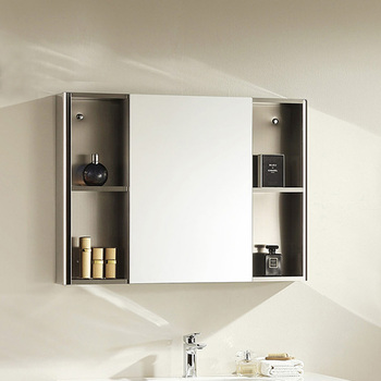 Wall Mounted Stainless Steel Bathroom Mirrored Medicine Cabinet