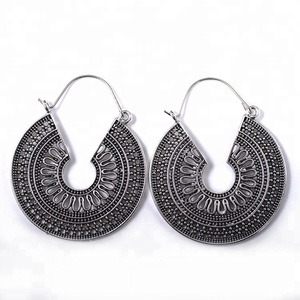 Korean new product moonstone hoop earrings jewelry for party