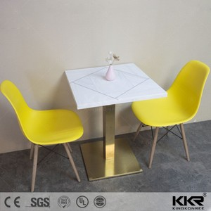 Stone indoor cafe tables and chairs/cafe style table chairs