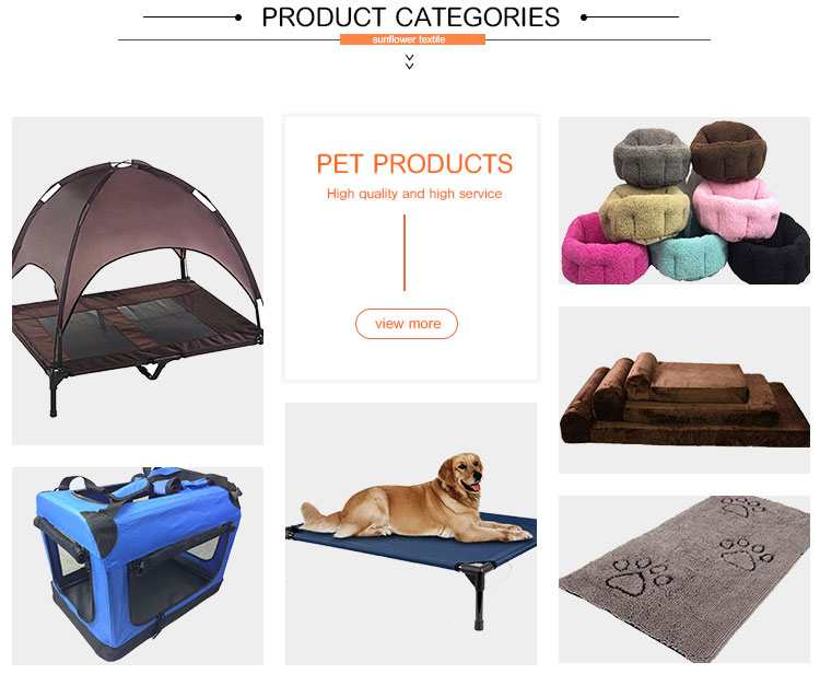 Pet supplies organic elevated folding dog bed car