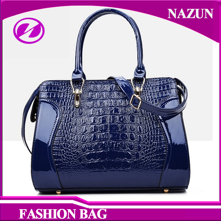 2016 New Trend Women PU Tote Bag Designer Crocodile-Stamped Fashion Lady Hand Bags from baigou Manufacturer