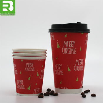 Christmas Candy Paper Cups Double Walls Coffee Cups Made In China