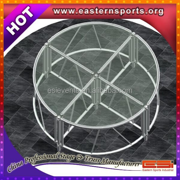 Hot Selling Circle Round Plexiglass Stage