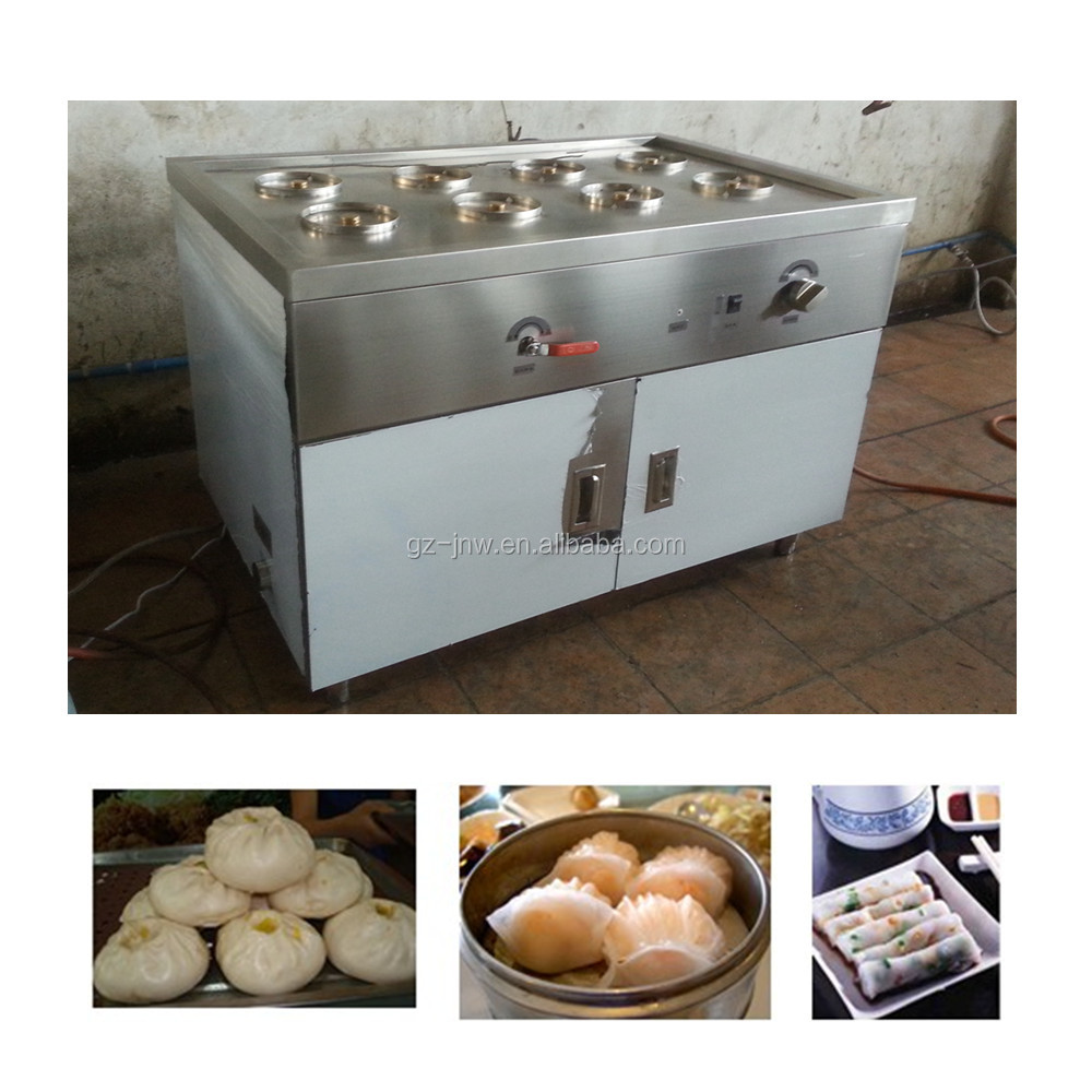 eight holes gas dim sum steamer cooker for kitchen steamer equipment