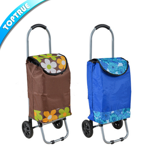 Supermarket Grocey Rollator Heavy Duty Folding Shopping Trolley